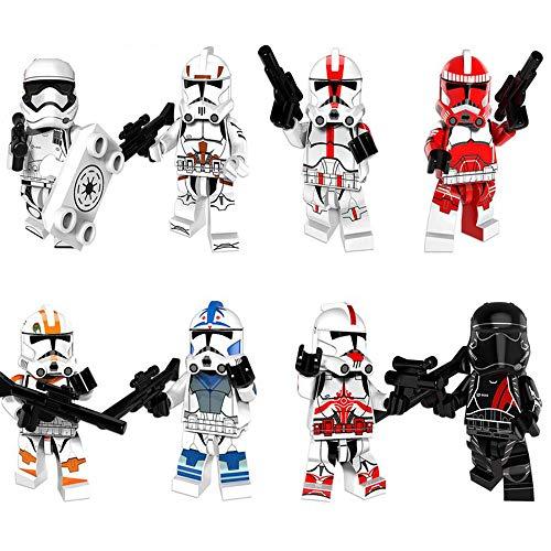 BAS Star Wars Figura Anime Muñecos Playset Soldado Imperial, Soldado Clon para Niños Adultos Decoración Estatua Estatuilla Colección Regalo 4.5cm