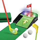 UBOWAY Mini Golf Putting Green Putting Mat Set with Sound Effect for Kids,...