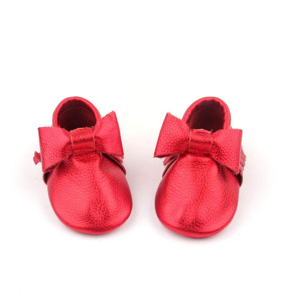 Starbie 防滑婴儿软皮鞋适合婴儿、幼儿、男孩和女孩 - 15 种颜色,婴儿皮鞋。