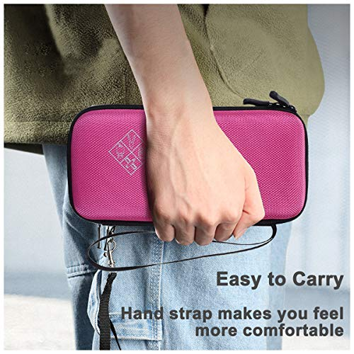 Xberstar Hard EVA Shockproof Carry Case Bag Pouch for Texas Instruments TI-84 Plus CE/Color TI-83 Plus,TI-89 Titanium, HP 50G Graphing, Scientific Financial Calculators (Pink) Photo #7
