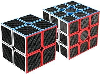 魔方 2個入り セット 炭素繊維 2021最新型 Magic Cube 立体パズル 競技用 ver4.0 (日本語6面完成攻略書+専用スタンド付き) ポップ防止 世界基準配色 回転スムーズ おもちゃ