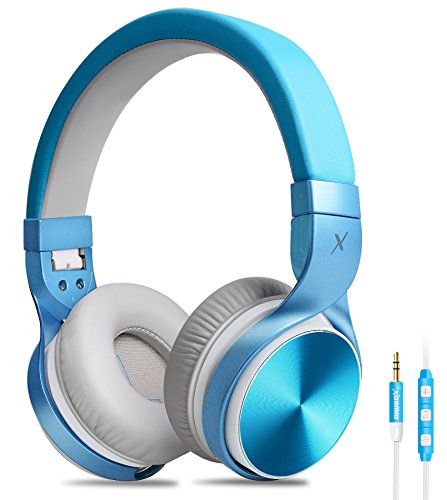 Headphones, Riwbox IN5 Foldable Headphones with Microphone and ...