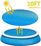 hook.s Cubierta de Piscina Solar para Piscinas inflables de, Piscinas rápidas, Cubierta de Burbujas, Cubierta de Piscina, Cubierta de Lona, Cubierta de Piscina térmica para Mantener el Calor