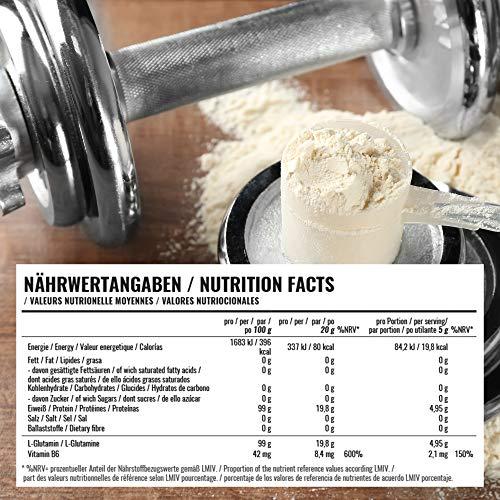 BWG Ultra Glutamine, L-Glutamin Pulver, Muscle Line, 1er Pack (1 x 1000g Beutel) - 3