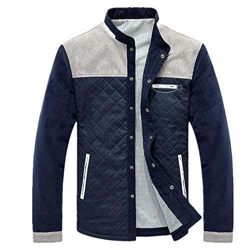 Lfly Herren Jacken Button Down Casual Bomberjacke Herren Elegante Patchwork Plaid Jacke Outwear Mantel Tops Herren Mode Jacken Leichte Vintage Scooter Oberbekleidung Jacken und Mantel XL