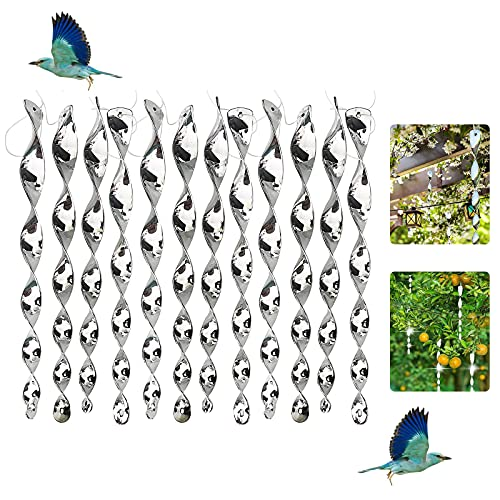 Toulifly 12 Piezas Varillas Reflectantes Repelentes de Pája