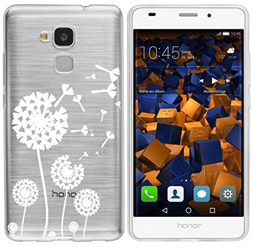 mumbi Hülle kompatibel mit Honor 5C Handy Case Handyhülle mit Motiv Pusteblume, transparent - 2