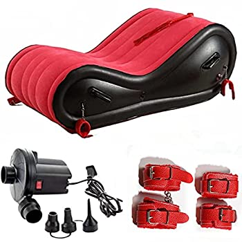 Inflatable S e@x Sofa Upgrate Sofa Bed with Handle Postioning Aid Cushion Portable Multifunctional