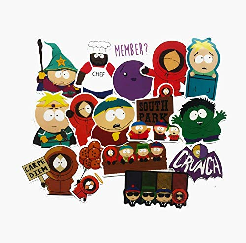 South Park Southpark Game Peripheral Mobile Phone Computer Helmet Suitcase Stationery Waterproof Stickers 15 Pieces