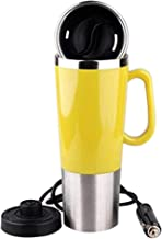 450ml Vacuum Insulated Stainless Steel Travel Mug Car Cup with Charger Car Boiling Mug Electric Kettle Boiling Vehicle Thermos DC12V Heating Cup