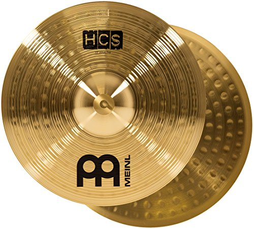 "Meinl 13"" Hihat (Hi Hat) Cymbal Pair – HCS Traditional Finish Brass for Drum Set, Made In Germany, 2-YEAR WARRANTY (HCS13H)"