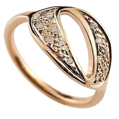 [アトラス]Atrus リング レディース 18金 ピンクゴールドk18 ダイヤモンド ナンバー0 指輪 ピンキーリング 数字 ストレート 14号