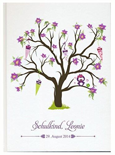 Personalisiertes Gästebuch zum Schulanfang Schulkind individuell mit eigenen Namen Fotoalbum (Motiv 39, 48 Seiten/ 24 Blatt)