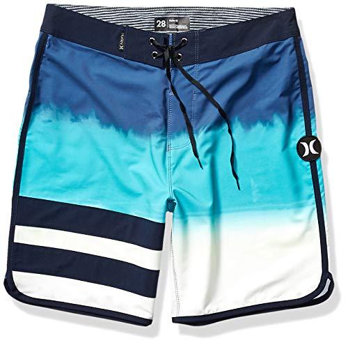 Hurley Men's Phantom Block Party Fever Board Shorts, Mystic Navy, 36