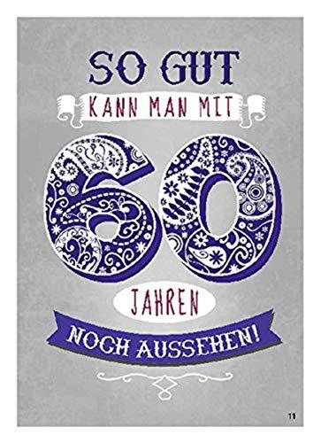 Depesche 4702.011 Glückwunschkarte mit überraschendem Effekt beim Öffnen, 60. Geburtstag