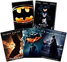 Ultimate Michael Keaton & Christian Bale Batman DVD Collection: Batman (1989) / Batman Returns / Batman Begins / The Dark Knight / The Dark Knight Rises [DC Comics] [Tim Burton & Christopher Nolan]
