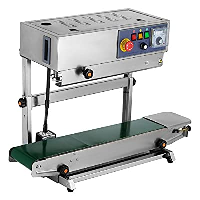 Happybuy Continuous Band Sealer FR-770 Vertical Automatic Continuous Sealing Machine with Digital Temperature Control Vertical Band Sealer for Bag Film