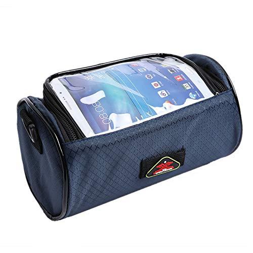 Fahrradtasche, Kopftasche, Faltauto, Fronttasche, Dead Fly, Fahrrad, Touchscreen, Lenker, Mountainbike-Ausrüstung, blau
