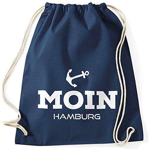 MoonWorks Turnbeutel Moin Hamburg Anker Navy Unisize