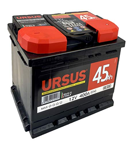 URSUS 078050 Max Batteria 45 DX Caratteristiche: TUVCert, 207Lx175Lx190H, 360A, QUALITA' Superiore