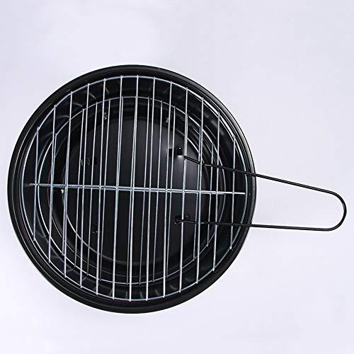 51SAMSv+vKL - Tragbarer Holzkohlegrill Für Den Haushalt Im Freien Tragbarer Mini-Grillgrill Ultraleicht Einfacher Grill-Holzkohleofen Geeignet Für 1-2 Personen