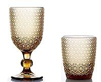 kedea bicchieri acqua colorati in vetro, calici vino colorati in vetro, lavabili in lavastoviglie, bicchieri e calici in pasta colore lavabili in lavastoviglie, pave' giallo ambra