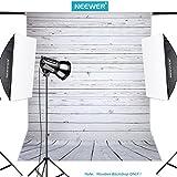 Neewer 5x 7FT/152x 213cm Gris Claro 100% poliéster Madera de Fondo de Fondo para fotografía de Estudio grabación de vídeo (fotografía Solo.)