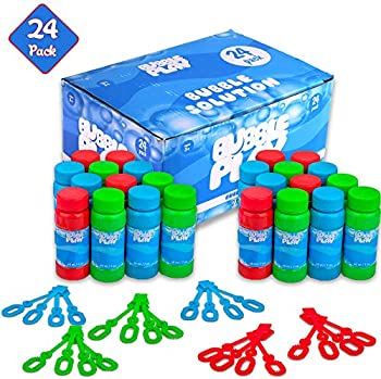 24-Pack BubblePlay Bubble Blower Bottles with Wands