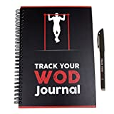 Track Your WOD Journal - The Ultimate Cross Training Workout Tracking Journal. 3rd ed. 6x9 Hardcover w/Pen Included. Track 210 WODs, 9 benchmarks + 25 Girls + 25 Hero WODs, and All Personal Records.