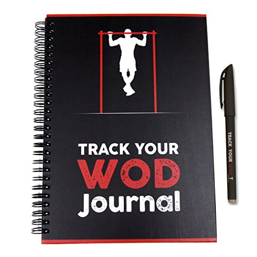 Track Your WOD Journal - The Ultimate Cross Training Tracking Journal. 3rd ed. 6x9 Hardcover w/ pen...
