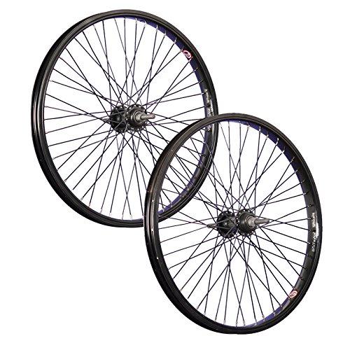 Taylor-Wheels 20 Pulgadas Juego Ruedas Bici BMX 48 Negro