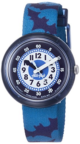 Flik Flak Jungen Analog Quarz Smart Watch Armbanduhr mit Stoff Armband FPNP017
