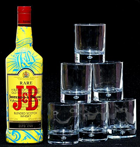 J & B Edition TATTOO plus 6 Whisky-Tumbler