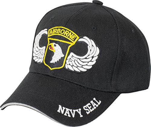 Tiendas LGP- Barbaric- Gorra Bordada Navy Seal Airborne, Talla única. con Presilla de adaptación, Color Negro