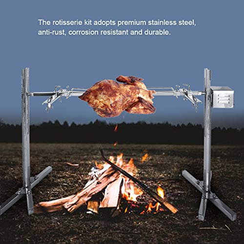 Rotisserie Kit, Stainless Steel Balance Kit Meat Forks Duty Kit Grill for Barbecues