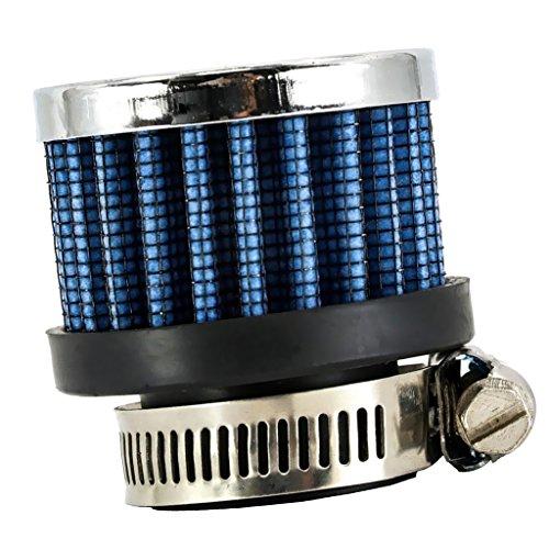 Mini Filtro Cónico de Entrada de Aire Frío de Coche de Alto Flujo de 25mm 1'' Azul