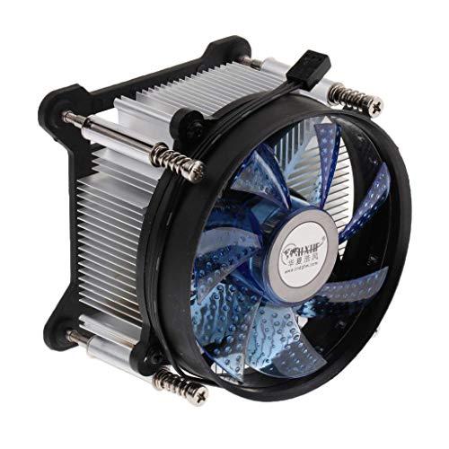 AMAZING1 Ventilador de refrigeración para CPU de 9 cm, disipador de calor de cobre para Intel LGA 775/1150/1151/1155, azul