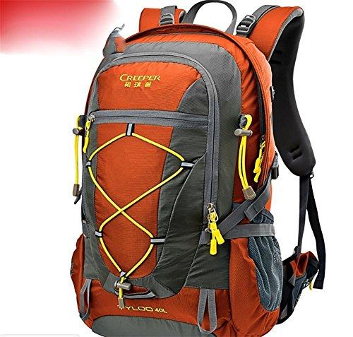 Outdoor randonnée sac à dos ultra léger 40L usure tour d'épaule-voyage sac housse imperméable d'équitation , orange 40 liters