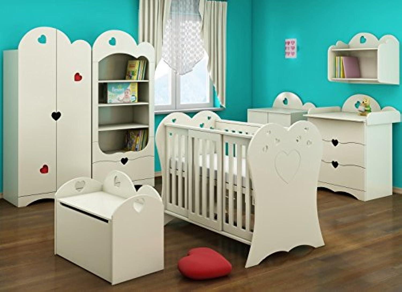 minorista de fitness Baby Cama Cuna Romantic Corazón blancoo blancoo blancoo 120X 60Cm  precios mas bajos