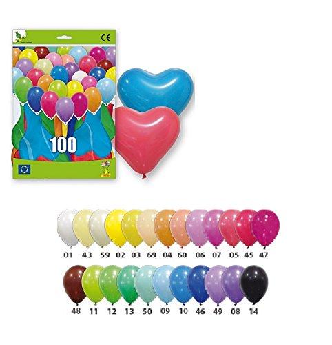Lot 10 Ballons COEUR VERT Mariage Anniversaire Modele12 - 32cm - 28GP-12