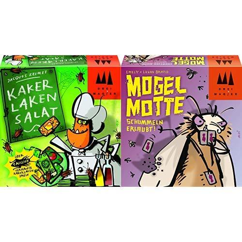 Schmidt Spiele 40839 Kakerlakensalat, Drei Magier Kartenspiel & Spiele 40862 Mogel Motte, Drei Magier Kartenspiel