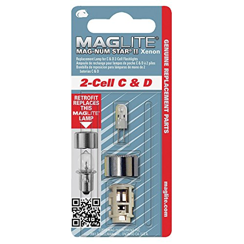 Mag-Lite LMXA201 Maglite Mag-Num Star Xenon Replacement Lamp for 2-Cell C and D Flashlights (107-000-648)