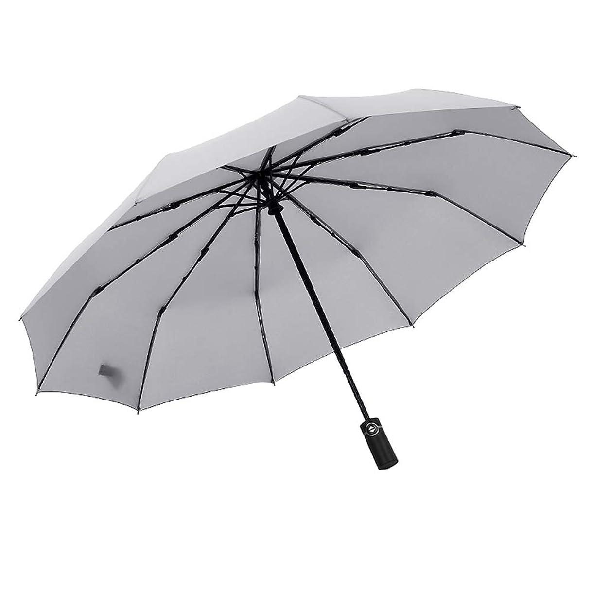 ネクタイ匿名いつもYulinz折りたたみ傘 メンズ 軽量 ワンタッチ自動開閉 大きい10本傘骨 グラスファイバー 雨晴れ兼用 防水カバー付き 携帯便利 (4色)