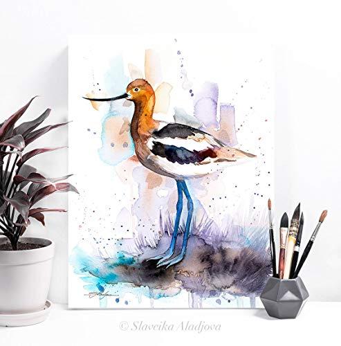 AQjept DIY Pintar por números Pájaro Animal Kits de Pintura por números con Pinceles y Pigmento acrílico Pintura de Bricolaje en Lienzo para niños Adultos Principiantes