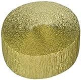 amscan Plain Crepe Streamer | Gold | Party Decor, 81 feet