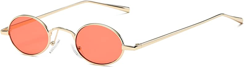 FEISEDY Vintage Small Round Sunglasses Retro Slender Metal Frame Candy Colors B2422