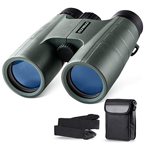 Prismáticos Profesionales Pequeño,10 x 42 HD Binoculares de Largo Alcance prismaticos Caza con FMC Roof BAK-4 Prisma para observación de Aves,Caza,conciertos,competiciones Deportivas