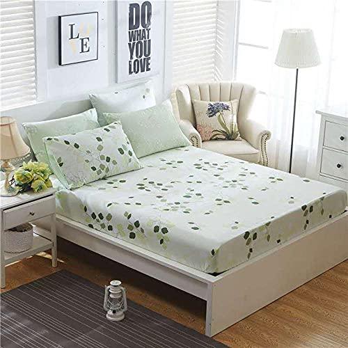 XGguo Protector de colchón de Rizo algodón y Transpirable Sábana de algodón Antideslizante Comfort-5_120x200cm