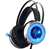 IMBA V8 Gaming Headset with Microphone for 3D Surround Sound, PC, PS4 Xbox One Headset | Noise Cancelling Mic Chat...