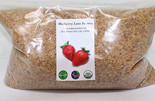 Golden Flax Seed (Flaxseed) 5 Pounds Whole Raw USDA Certified Organic, Non-GMO, Bulk, Product of USA